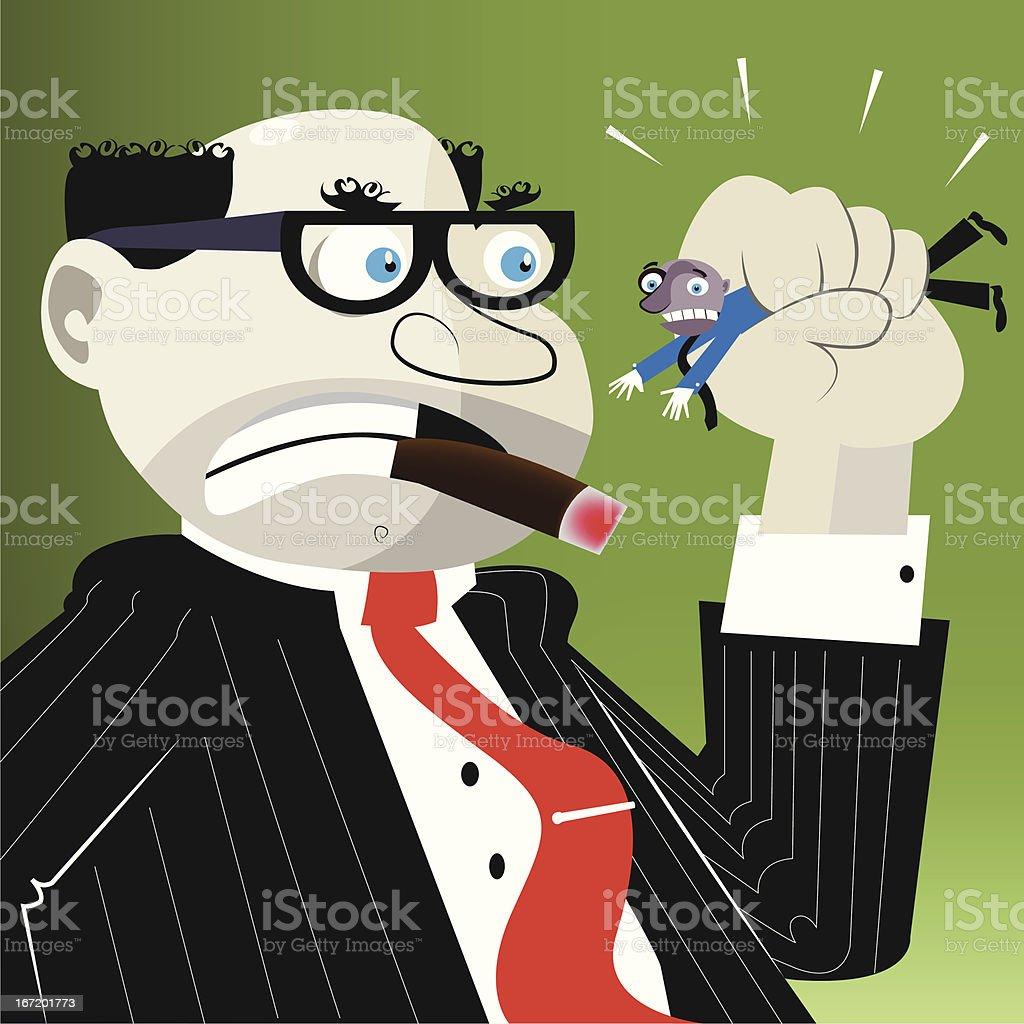 The boss royalty-free stock vector art