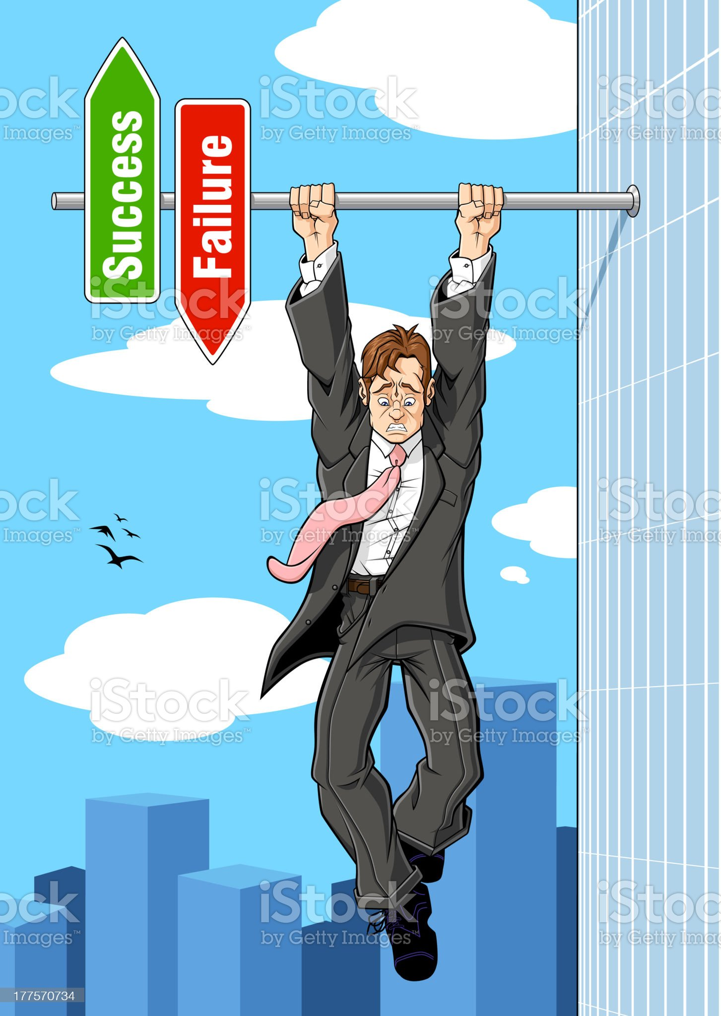 The brink of failure royalty-free stock vector art