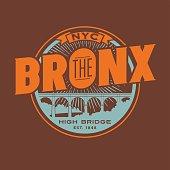 The Bronx, New York City t-shirt or print typography design.