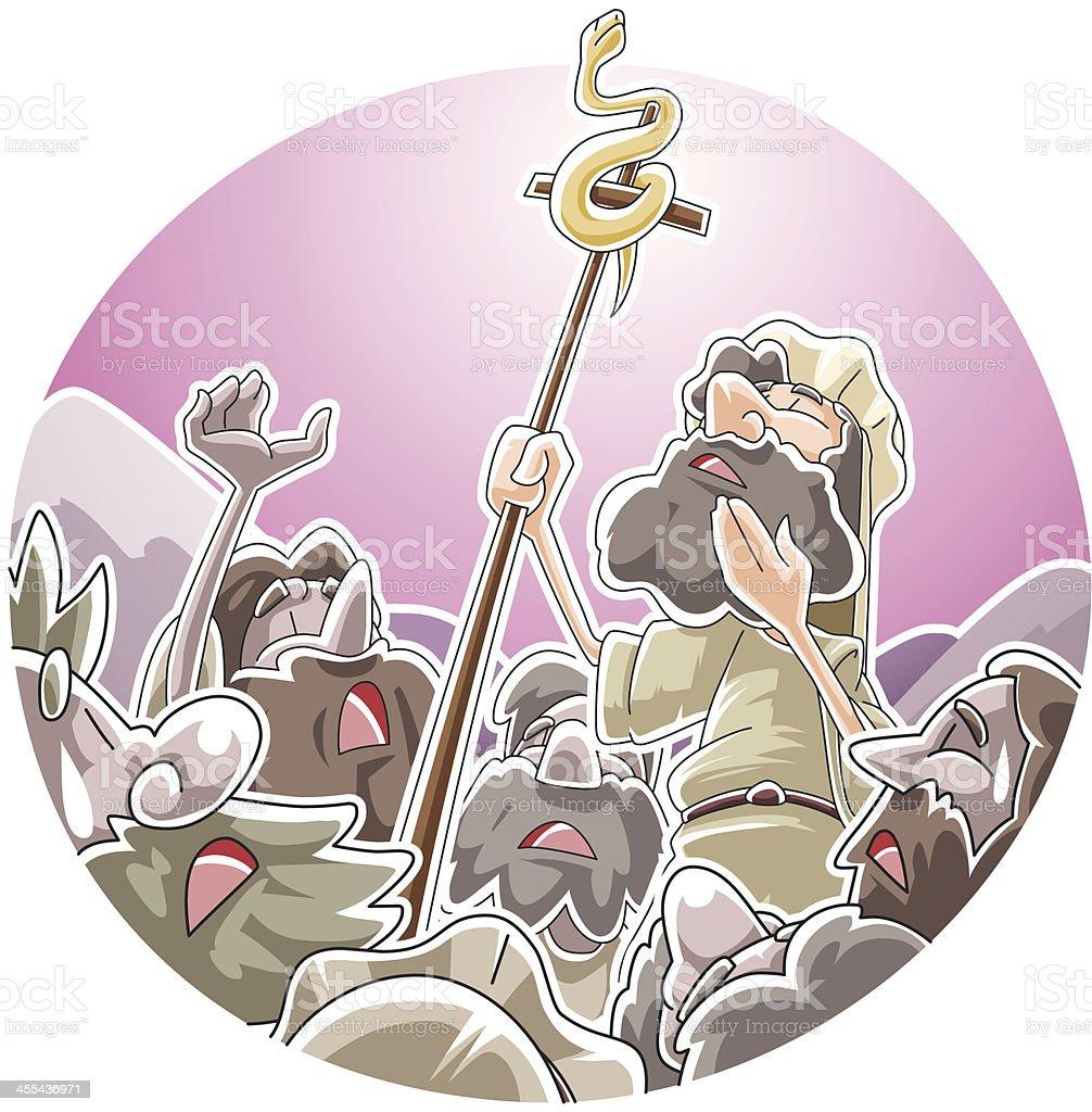 The bronze snake royalty-free stock vector art