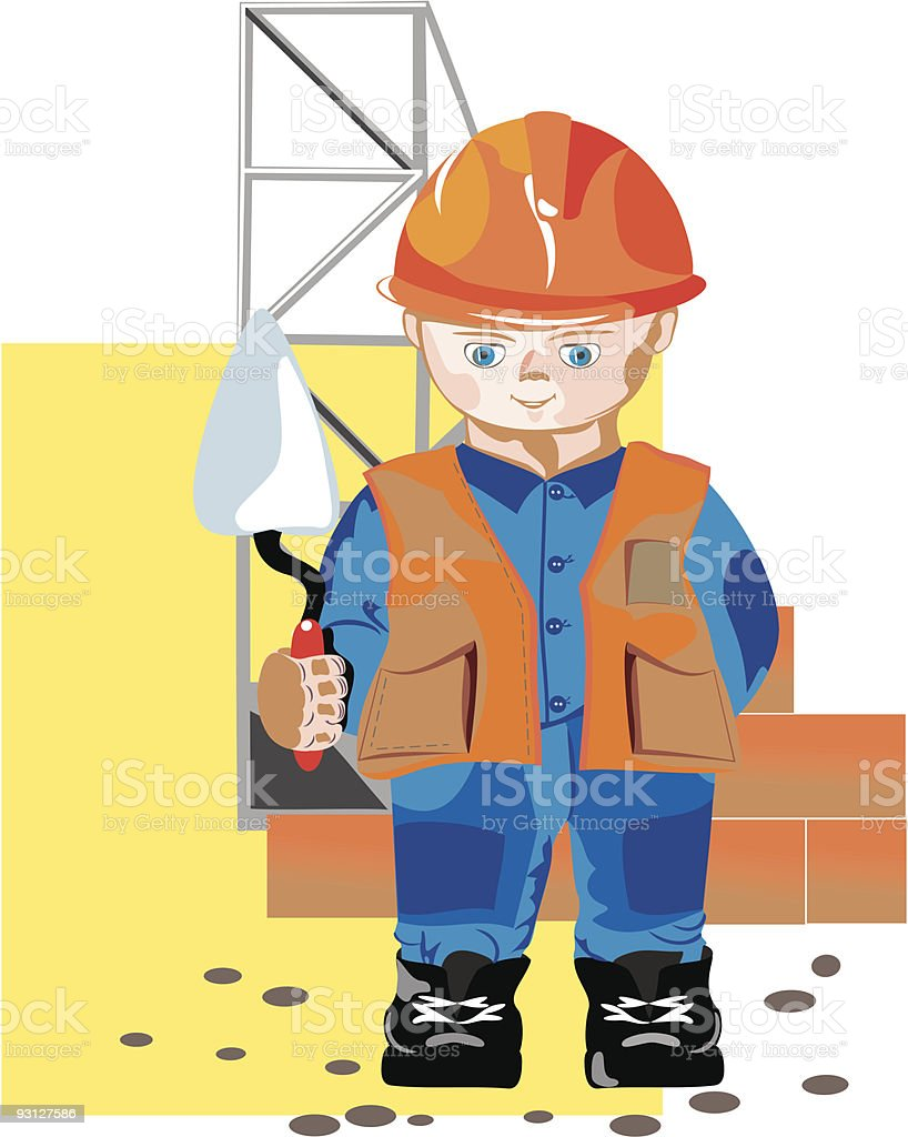 The builder royalty-free stock vector art