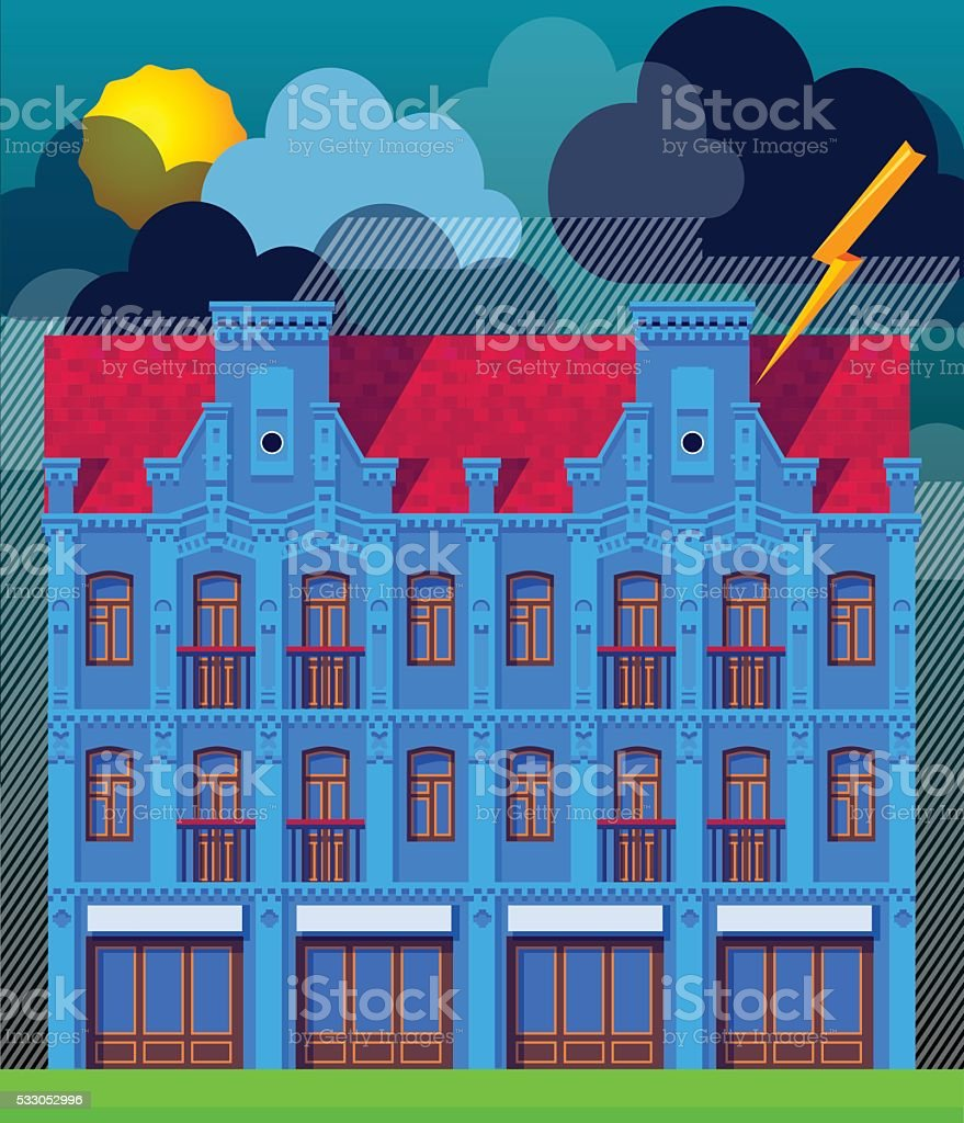 The building vector art illustration