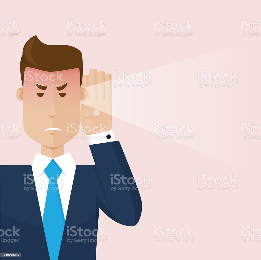 The businessman hear a bad news vector art illustration