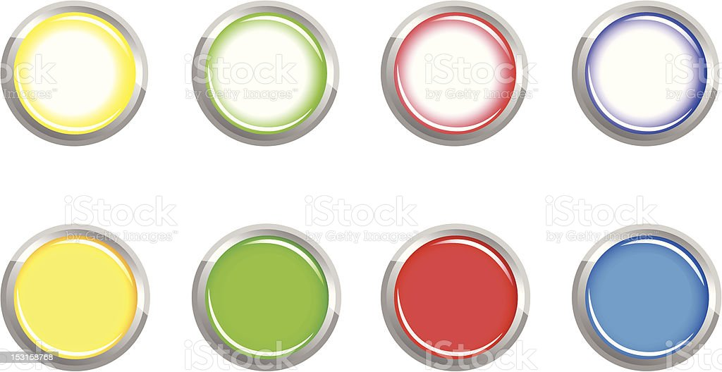 The buttons vector art illustration