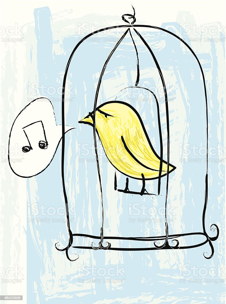 The caged bird sings... royalty-free stock vector art