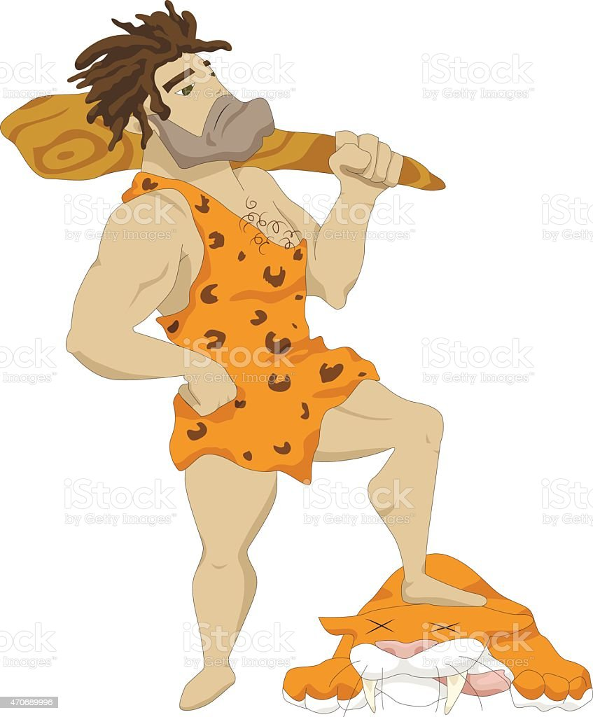 the Caveman vector art illustration