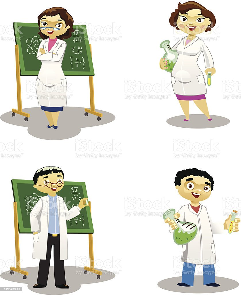 The Chemists royalty-free stock vector art