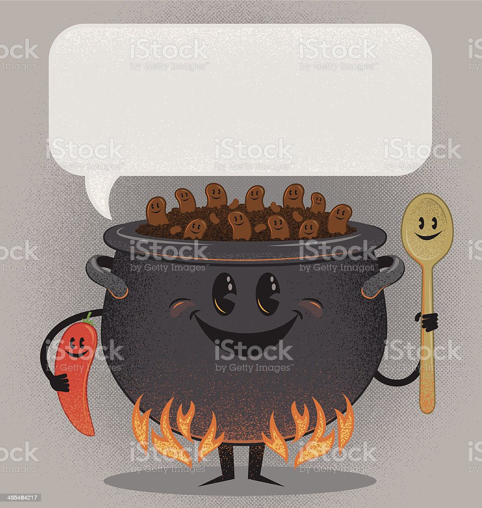 The Chili Cook Out Gang royalty-free stock vector art