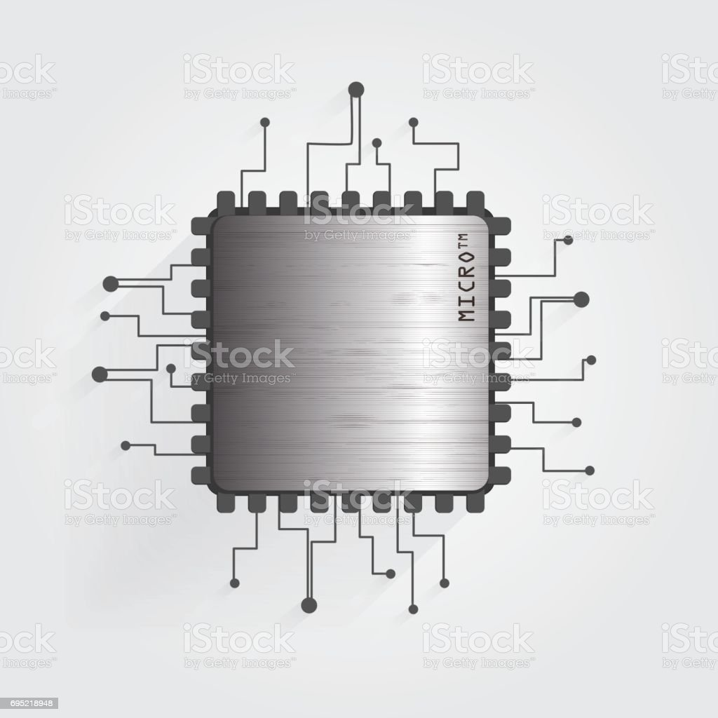 The chip on a white background vector vector art illustration