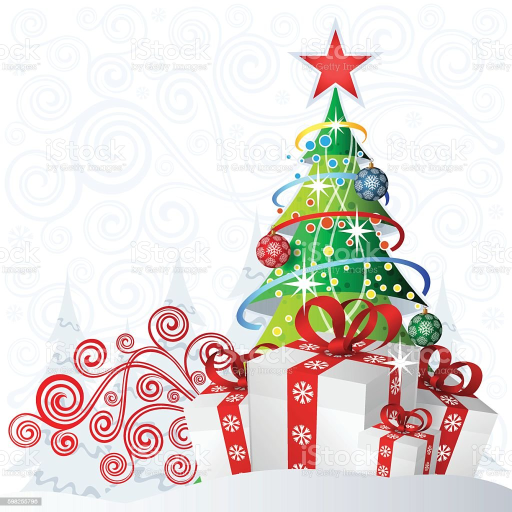 Сhristmas backdrop vector art illustration