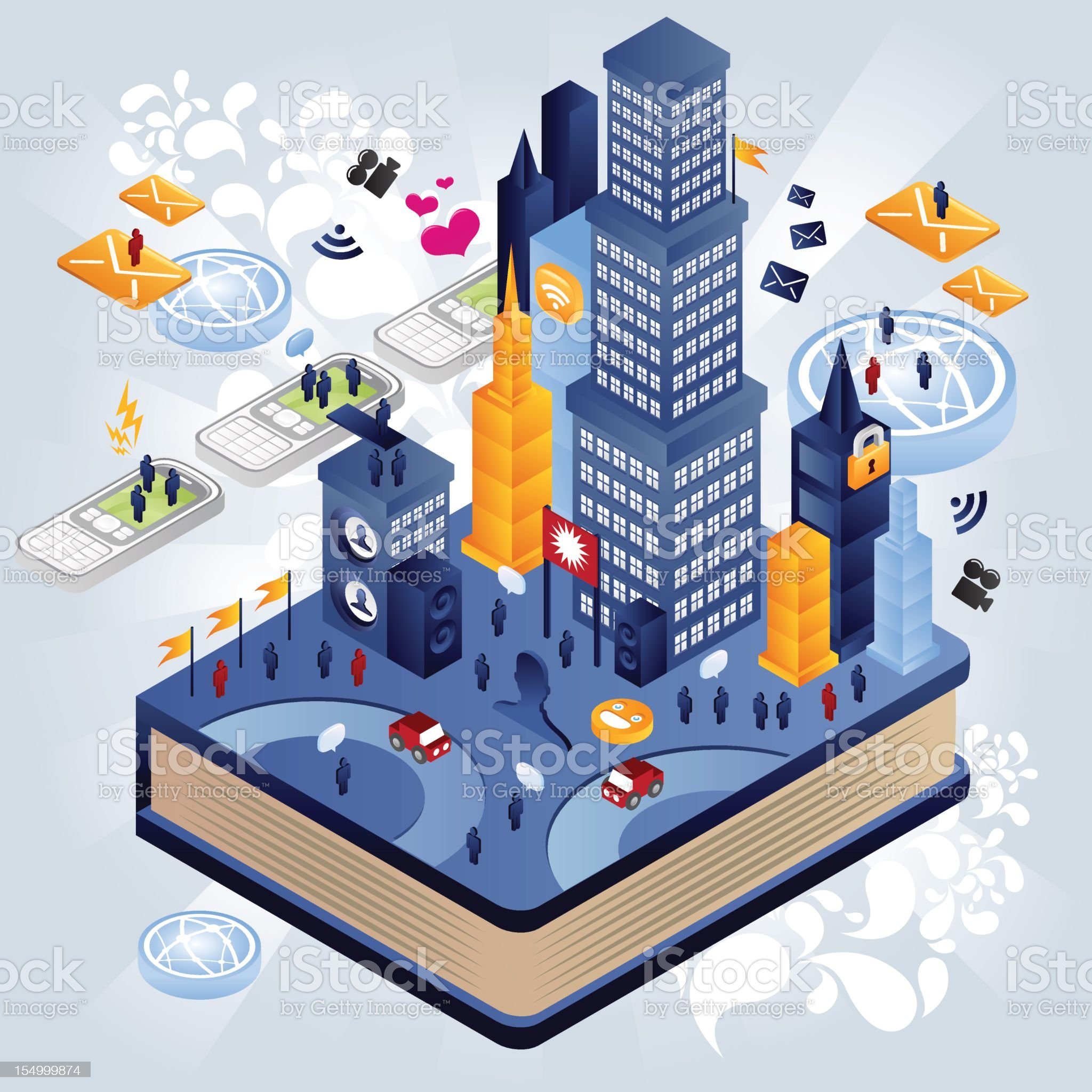 The city of book royalty-free stock vector art