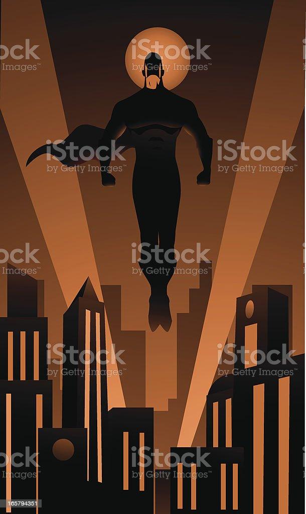 The City Protector Superhero royalty-free stock vector art