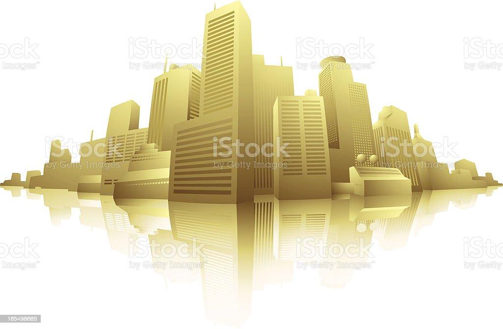 The City royalty-free stock vector art
