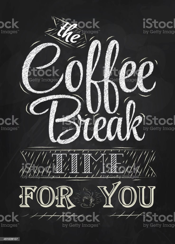 The coffee break time for you vector art illustration