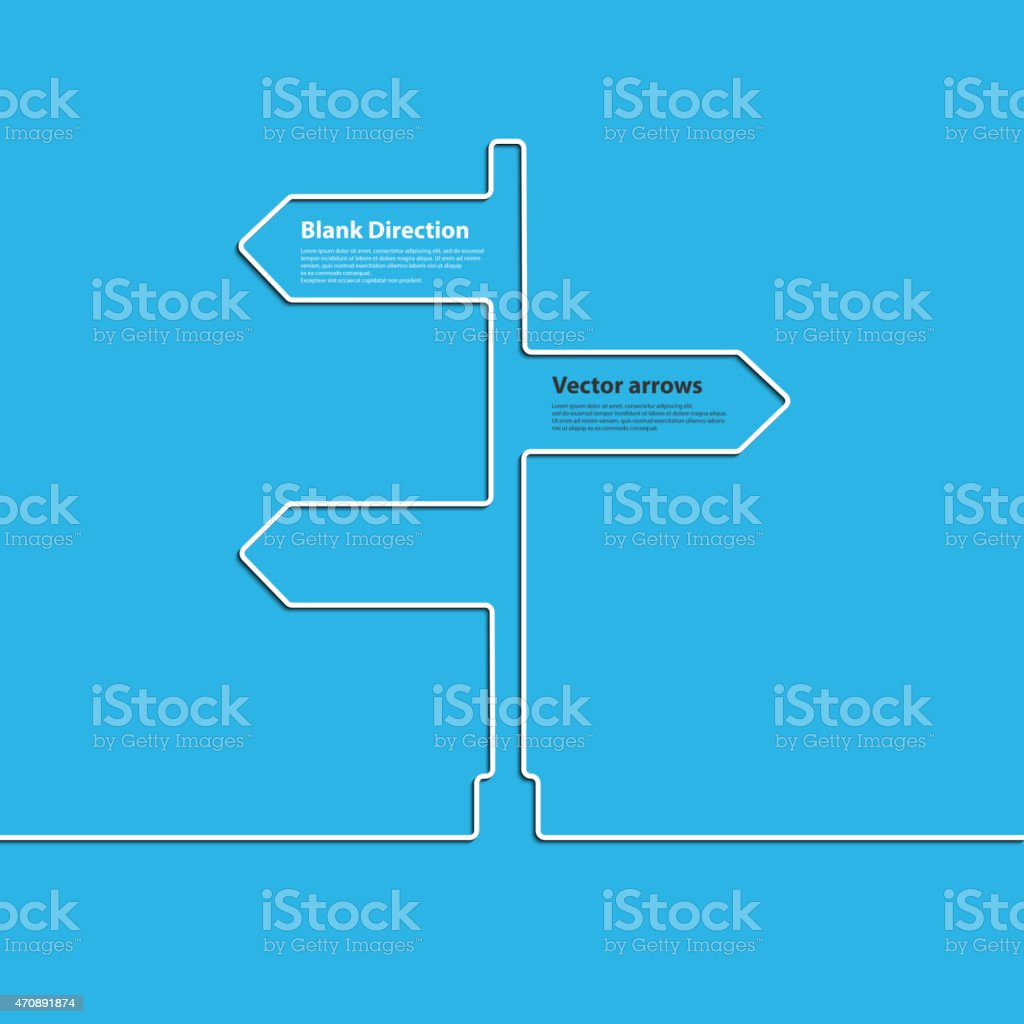 The concept arrow sign of choosing direction the road junction vector art illustration