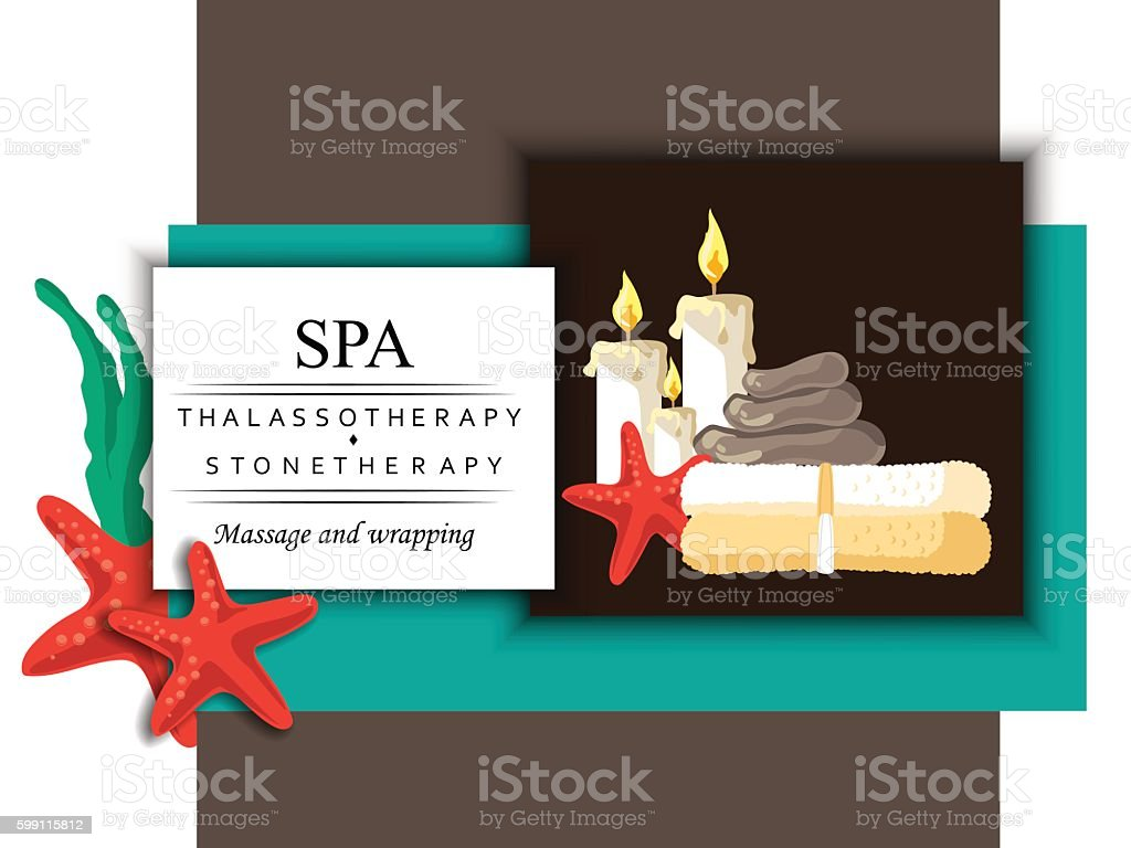 the concept of cosmetology, massage and spa procedure vector art illustration