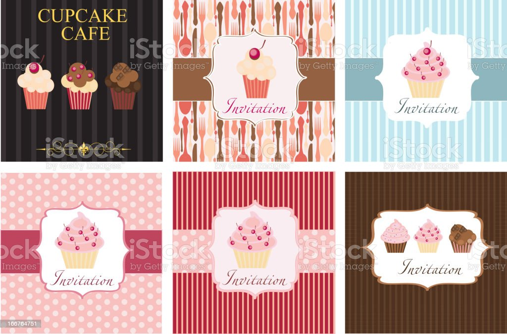 The concept of cupcakes cafe menu. Vector illustration royalty-free stock vector art
