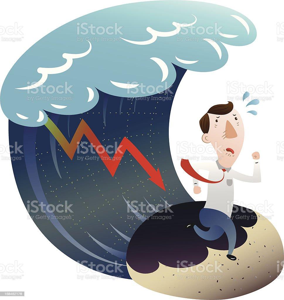 The concept of financial crisis royalty-free stock vector art