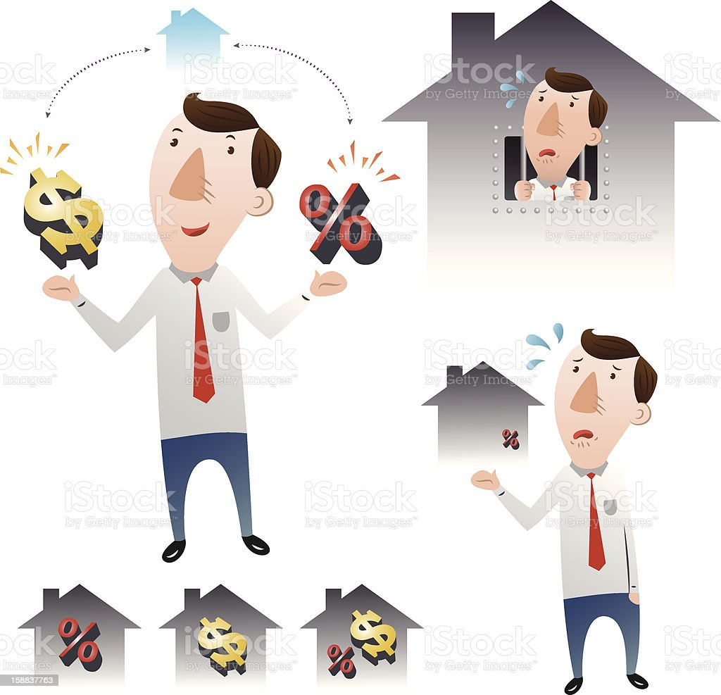 The concept of housing loans royalty-free stock vector art