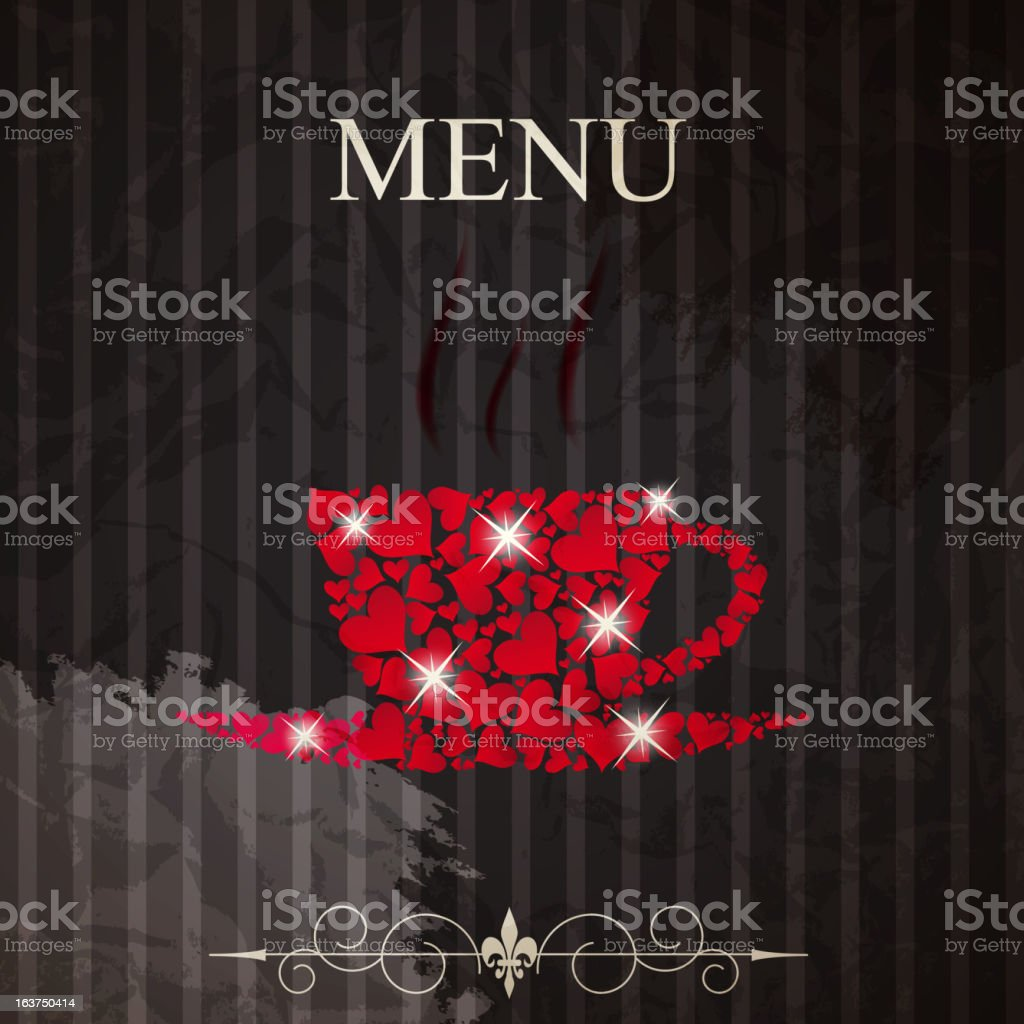 The concept of Restaurant menu on valentines day royalty-free stock vector art
