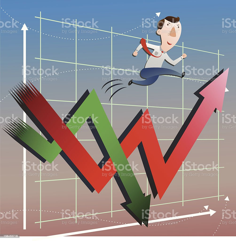The concept of stock market operations royalty-free stock vector art