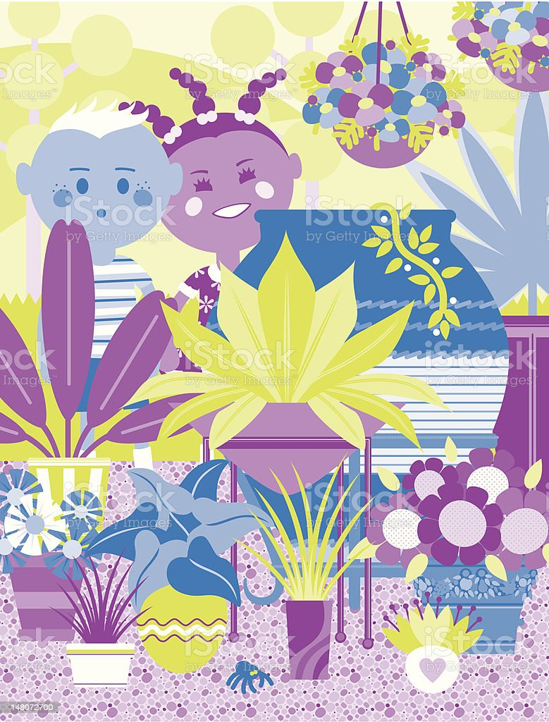 The Container Garden vector art illustration