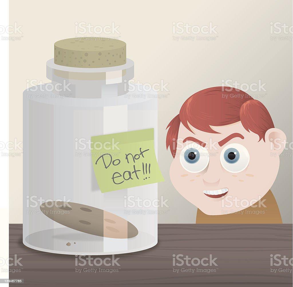 The Cookie Jar vector art illustration