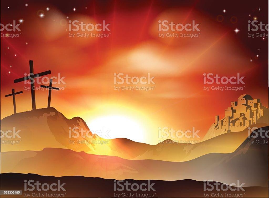 The Cross vector art illustration