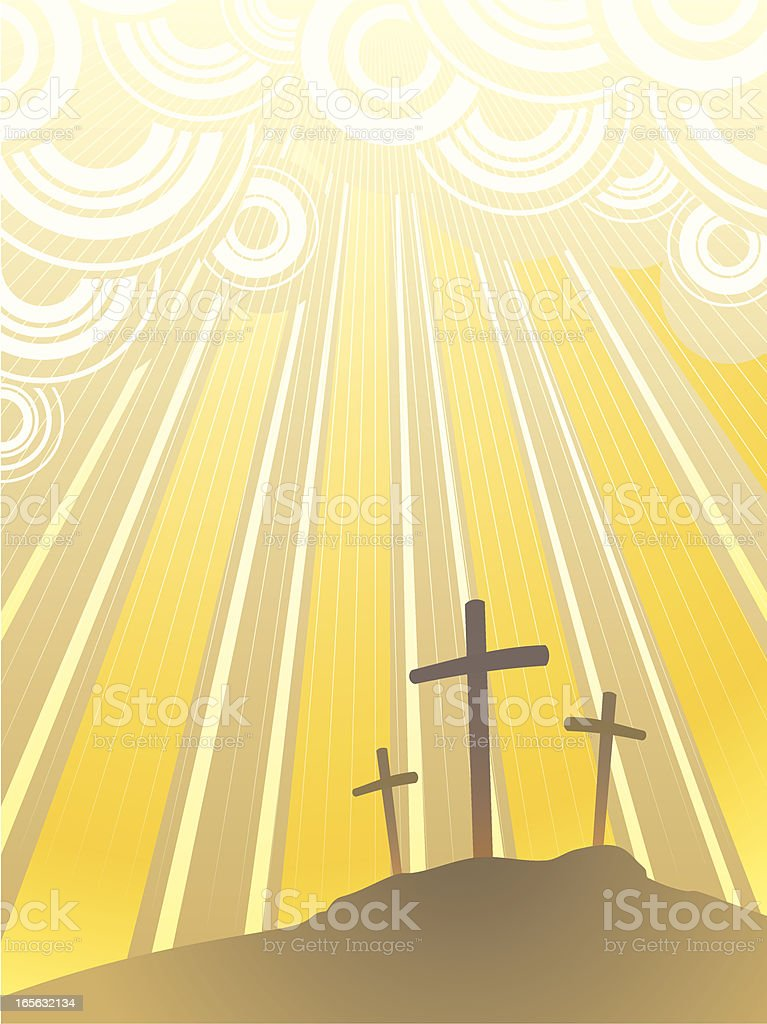 The Crucifix royalty-free stock vector art