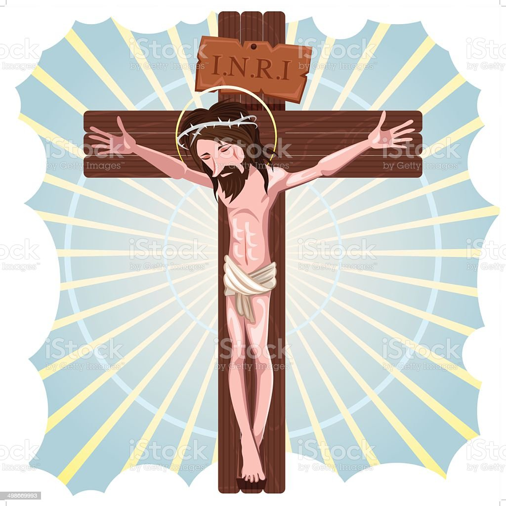 The Crucifixion of Jesus Christ vector art illustration