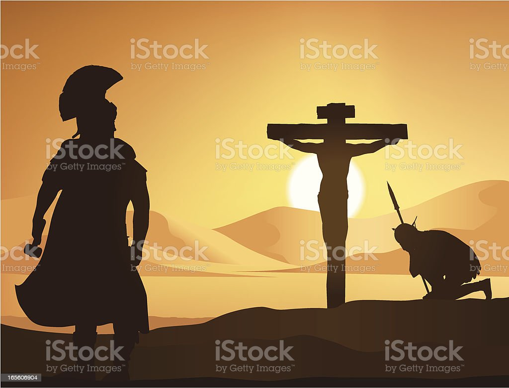 The Crucifixion royalty-free stock vector art