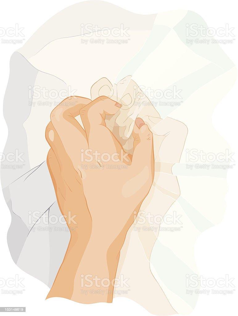 The crumpled reflexion vector art illustration