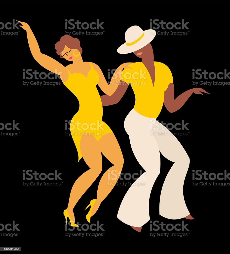 the dance salsa vector art illustration
