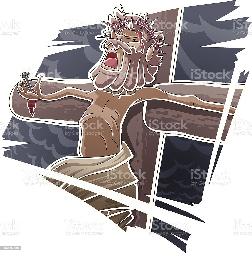 The death of Jesus royalty-free stock vector art
