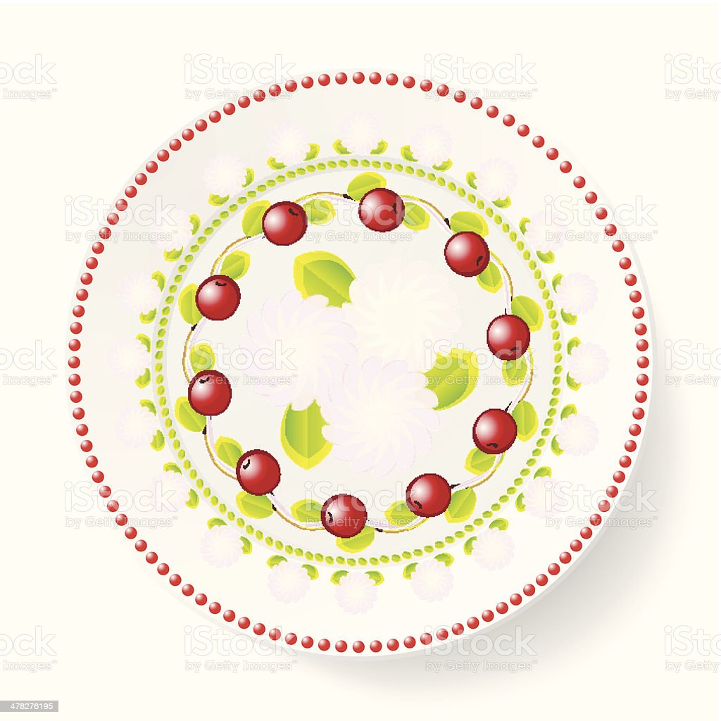 The dish, pattern with cherries royalty-free stock vector art