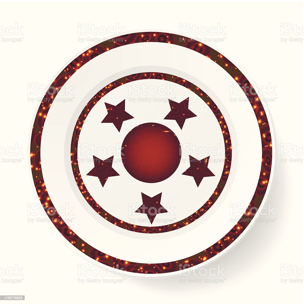 The dish, pattern with stars royalty-free stock vector art
