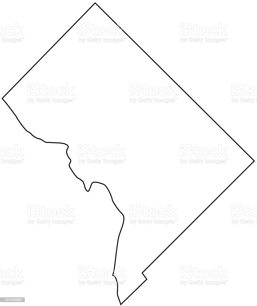 The District of Columbia vector art illustration