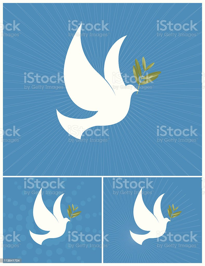 The Dove of Peace royalty-free stock vector art