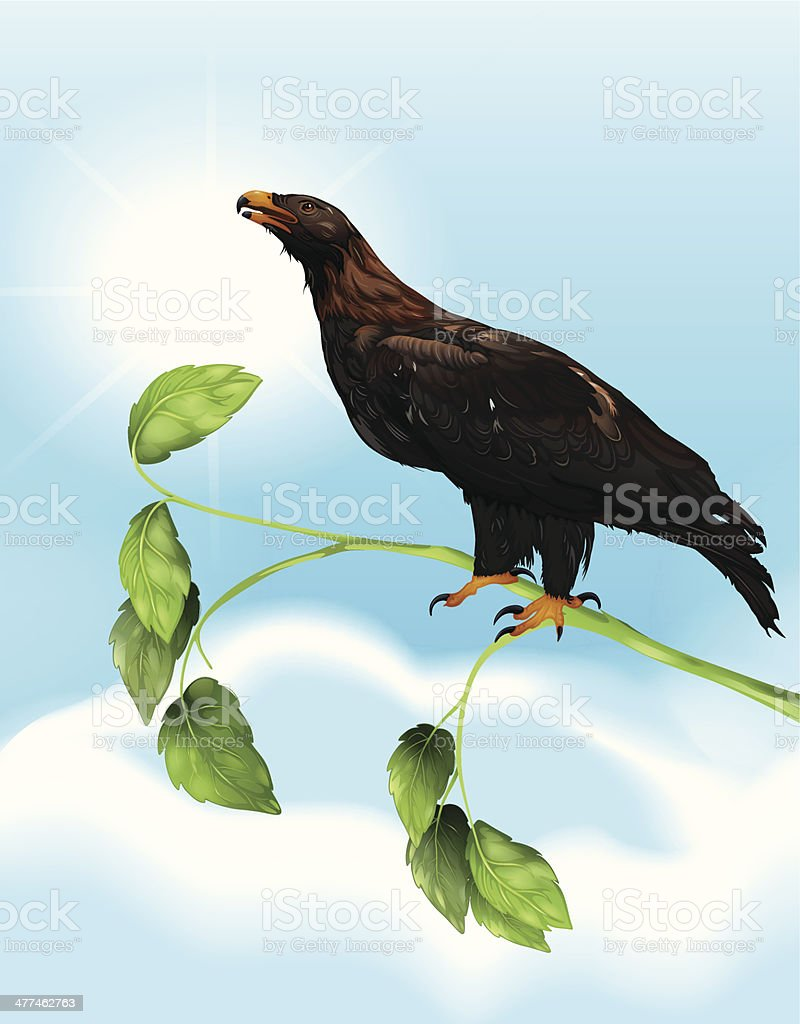 The Eagle vector art illustration