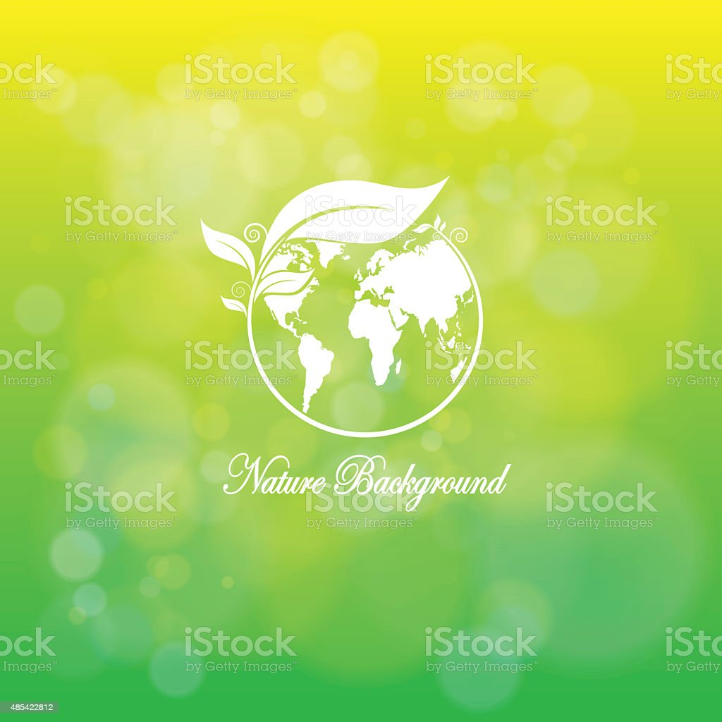 The Eco earth on natural green stock photo