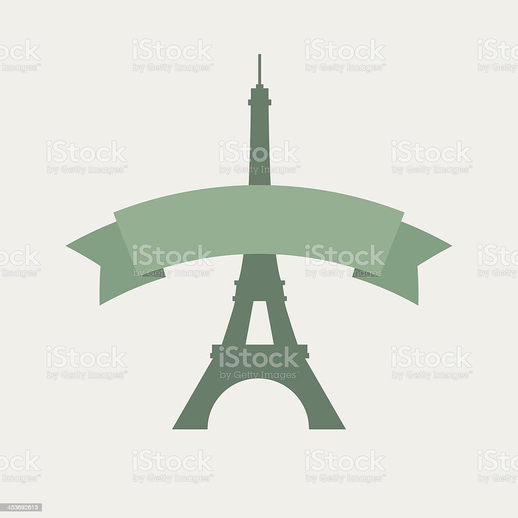 The eiffel tower vector art illustration
