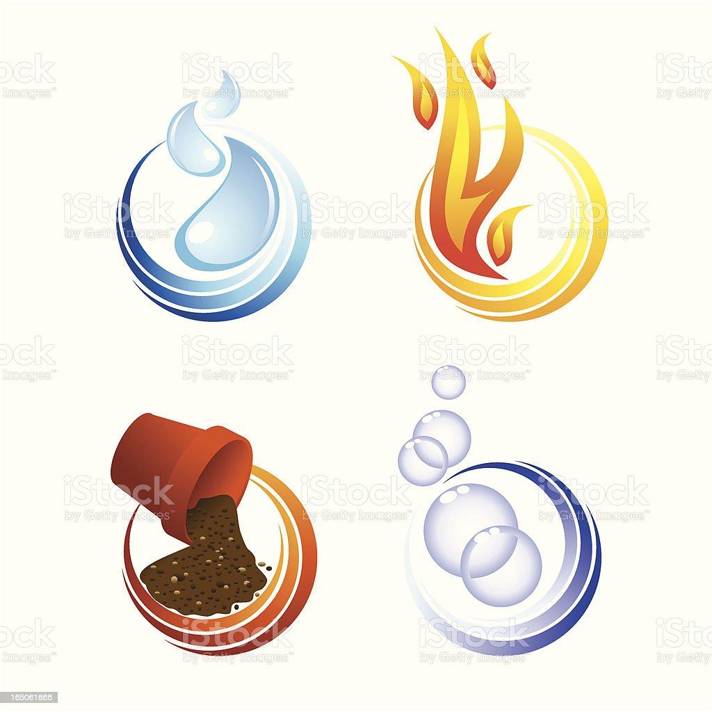 The elements vector art illustration