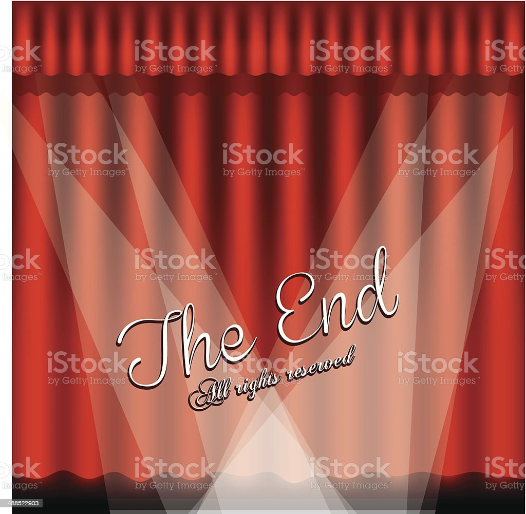 The End Label vector art illustration