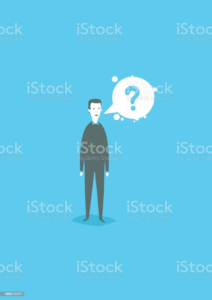 The eternal question vector art illustration