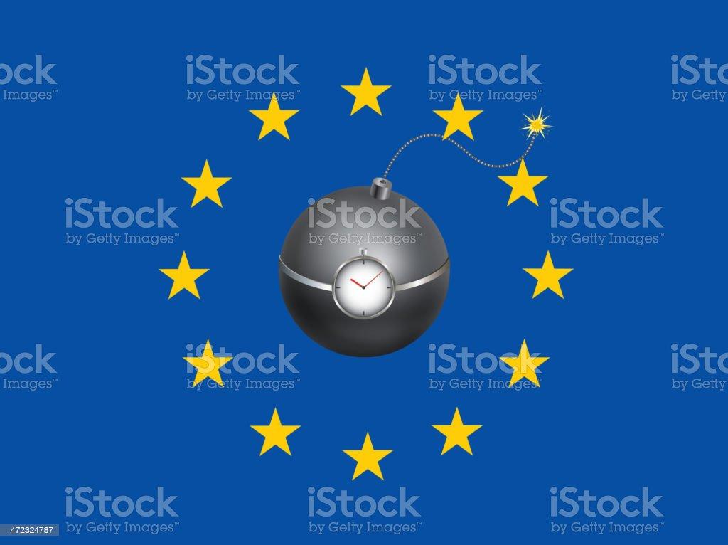 The EU internal latent crisis royalty-free stock vector art