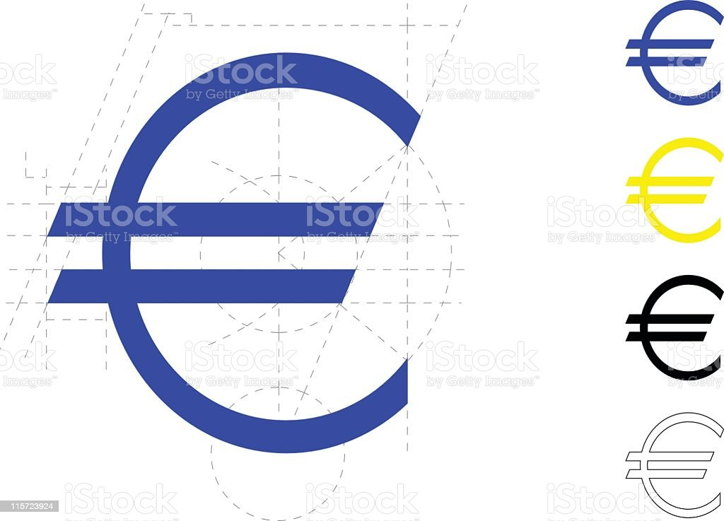 The Euro symbol was carefully designed  royalty-free stock vector art