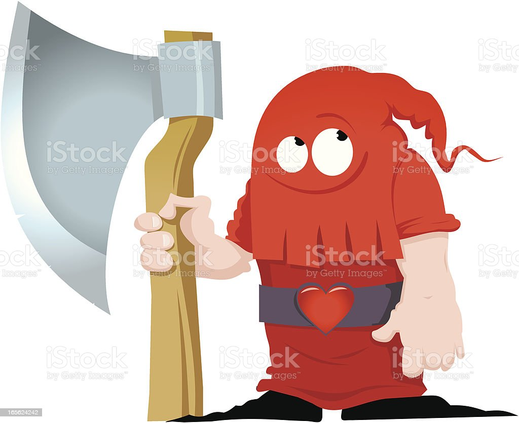 The executioner of love royalty-free stock vector art