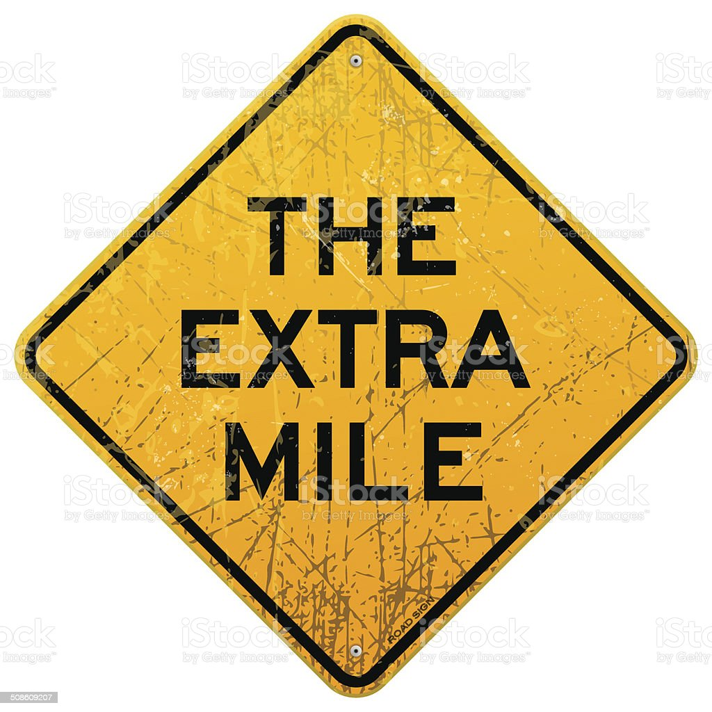 The Extra Mile vector art illustration
