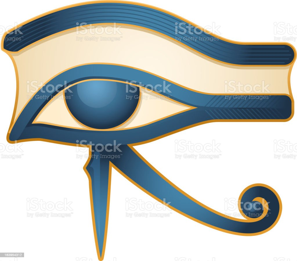 The Eye of Horus Egypt Deity vector art illustration