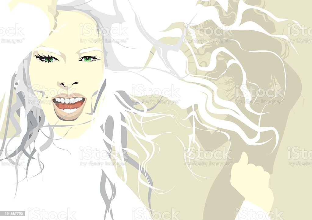the face 18 royalty-free stock vector art